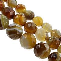 Madagaskar Achat Perle, rund, verschiedene Größen vorhanden & facettierte, Kaffeefarbe, Länge:ca. 16 ZollInch, verkauft von Menge