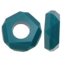 Harz European Perlen, Rondell, Imitation Kristall & ohne troll & facettierte & Volltonfarbe, keine, 14x5mm, Bohrung:ca. 6mm, 100PCs/Tasche, verkauft von Tasche