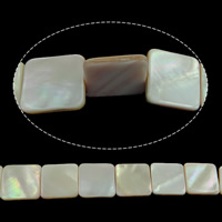 Natürliche Rosa Muschelperlen, Quadrat, 19.50x19.50x3mm, Bohrung:ca. 1mm, Länge:ca. 16 ZollInch, 10SträngeStrang/Menge, ca. 20PCs/Strang, verkauft von Menge
