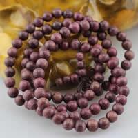 108 Mala Perlen, Amarant, mit elastische Nylonschnur, rund, unterschiedliche Länge der Wahl & buddhistischer Schmuck & verschiedene Größen vorhanden & 4-Strang, verkauft von Menge