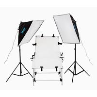 Aluminium Minifoto-Studio -Set, weiches Licht Box & Lampenhalter & Foto Aufnahmetisch & Lichtstativ, mit Lylon & Acryl, Einbrennlack, frei von Nickel, Blei & Kadmium, 600x1200mm,2000mm, 3PCs/setzen, verkauft von setzen