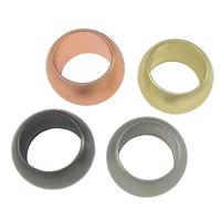 Messing Großes Loch Perlen, Rondell, plattiert, stumpfmatt, keine, frei von Nickel, Blei & Kadmium, 5.50x9mm, Bohrung:ca. 6mm, 100PCs/Menge, verkauft von Menge