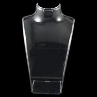 Organisches Glas Kettenständer, Büste, klar, 135x200x63mm, 5PCs/Tasche, verkauft von Tasche