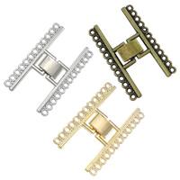 Zinklegierung Fold Over Verschluss, plattiert, 12 -Strang-, keine, frei von Nickel, Blei & Kadmium, 23x38x4mm, Bohrung:ca. 1mm, 150PCs/Menge, verkauft von Menge