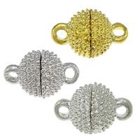 Zinklegierung Magnetverschluss, rund, plattiert, Einzelstrang, keine, frei von Nickel, Blei & Kadmium, 14x9mm, Bohrung:ca. 2mm, 100PCs/Menge, verkauft von Menge