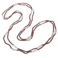 Natürliche Süßwasser Perle Halskette, Natürliche kultivierte Süßwasserperlen, zweifarbig, 4-19mm, verkauft per ca. 78.5 ZollInch Strang