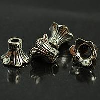 Zinklegierung Perlenkappe, Blume, antik silberfarben plattiert, frei von Nickel, Blei & Kadmium, 11.70x8.80mm, Bohrung:ca. 3mm, 100PCs/Menge, verkauft von Menge