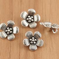 Bali Sterling Silber Anhänger, Thailand, Blume, 10x1.6mm, Bohrung:ca. 3.5mm, 10PCs/Tasche, verkauft von Tasche