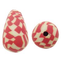 Polymer Ton Perlen , Tropfen, zweifarbig, 10x17mm, Bohrung:ca. 1mm, 500PCs/Tasche, verkauft von Tasche