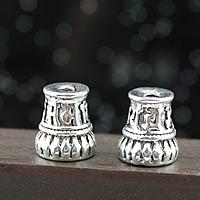 Buddhistische Perlen, Zinklegierung, antik silberfarben plattiert, buddhistischer Schmuck & om mani padme hum, frei von Nickel, Blei & Kadmium, 10x11mm, Bohrung:ca. 2mm, 200PCs/Menge, verkauft von Menge