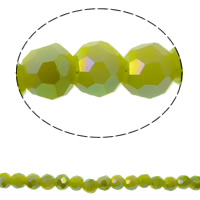 Klasse AA Kristallperlen, Kristall, rund, bunte Farbe plattiert, verschiedene Größen vorhanden & facettierte & AA grade crystal, Peridot, Bohrung:ca. 1mm, verkauft per ca. 15.5 ZollInch Strang