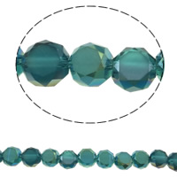 Klasse AA Kristallperlen, Kristall, rund, bunte Farbe plattiert, verschiedene Größen vorhanden & facettierte & AA grade crystal, Bohrung:ca. 1mm, verkauft per ca. 15.5 ZollInch Strang