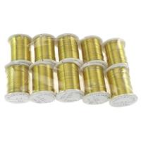 Messing Draht, mit Kunststoffspule, goldfarben plattiert, frei von Nickel, Blei & Kadmium, 0.30mm, 10PCs/Menge, 10m/PC, verkauft von Menge