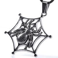 Titan -Anhänger, Titanstahl, Spinnennetz, plattiert, zweifarbig, 35x35mm, Bohrung:ca. 2-5mm, 3PCs/Tasche, verkauft von Tasche