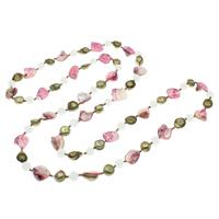 Süßwasserperlen Pullover Halskette, Natürliche kultivierte Süßwasserperlen, mit Jade & Glas-Rocailles, farbenfroh, 12-19mm, 10mm, verkauft per ca. 51 ZollInch Strang