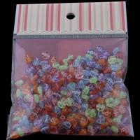 Alphabet Acryl Perlen, transparent & gemischt, 7x3mm, 100x170mm, Bohrung:ca. 1mm, ca. 240PCs/Tasche, verkauft von Tasche