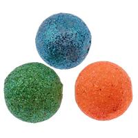 Acryl Perle, rund, buntes Pulver, gemischte Farben, 20mm, Bohrung:ca. 2mm, 100PCs/Tasche, verkauft von Tasche