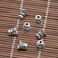 Bali Sterling Silber Perlenkappen, Thailand, Kegel, 7x6.50mm, Bohrung:ca. 1mm, 60PCs/Menge, verkauft von Menge