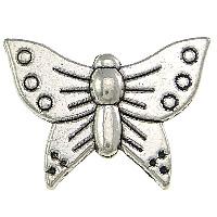 Zinklegierung Tier Perlen, Schmetterling, antik silberfarben plattiert, frei von Nickel, Blei & Kadmium, 16x12x3mm, Bohrung:ca. 1mm, 300PCs/Menge, verkauft von Menge