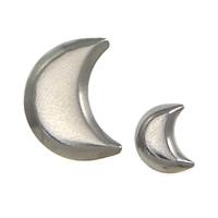 Edelstahl Cabochon Einstellung, 304 Edelstahl, Mond, verschiedene Größen vorhanden, originale Farbe, 2000PCs/Menge, verkauft von Menge