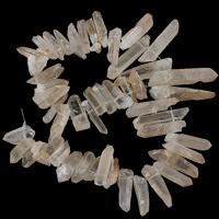 Natürliche gefärbten Quarz Perlen, Klarer Quarz, Klumpen, 4-11x22-49x4-11mm, Bohrung:ca. 1.5mm, Länge:ca. 15.5 ZollInch, 2SträngeStrang/Menge, ca. 49PCs/Strang, verkauft von Menge