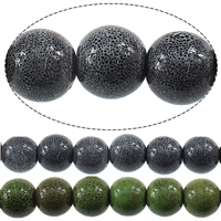 Porzellan Schmuckperlen, rund, keine, 13mm, Bohrung:ca. 3mm, Länge:ca. 13.5 ZollInch, 5SträngeStrang/Menge, ca. 30PCs/Strang, verkauft von Menge