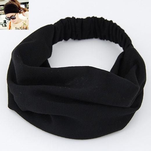 Stirnband, Baumwolle, schwarz, 240x175mm, verkauft von PC