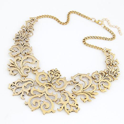 Mode Statement Halskette, Zinklegierung, mit Verlängerungskettchen von 5cm, antike Goldfarbe plattiert, frei von Blei & Kadmium, 400x170x63mm, verkauft per ca. 15.75 ZollInch Strang
