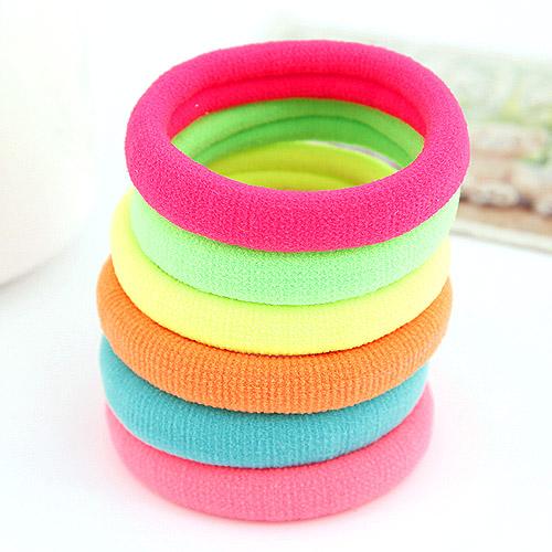 Elastisches Haarband, Baumwollsamt, gemischte Farben, 2-5mm, verkauft von PC