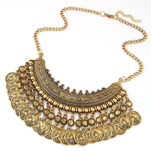 Vintage Halskette-Anweisung, Zinklegierung, mit Verlängerungskettchen von 5cm, flache Runde, antike Goldfarbe plattiert, Twist oval, frei von Blei & Kadmium, 400mm, verkauft per ca. 15.75 ZollInch Strang