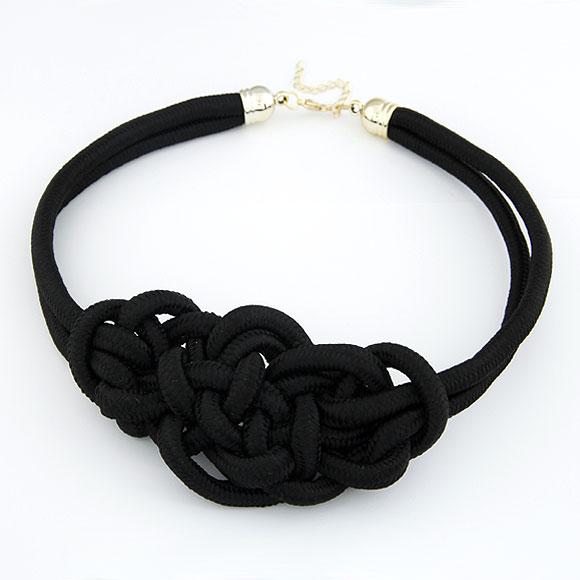 Nylonschnur Halskette, schwarz, 460x125x60mm, verkauft per ca. 18.11 ZollInch Strang