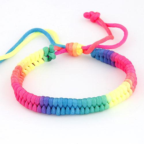 Nylonschnur Woven Ball Armband, einstellbar, farbenfroh, 175mm, verkauft per ca. 6.5 ZollInch Strang