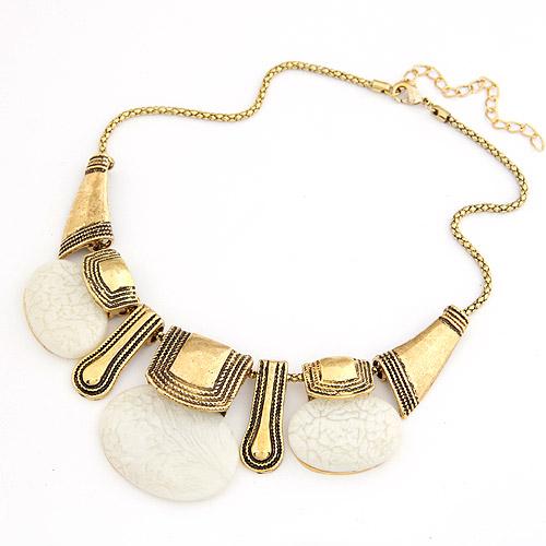 Harz Halskette, Zinklegierung, mit Harz, mit Verlängerungskettchen von 5cm, flachoval, antike Goldfarbe plattiert, Laterne Kette, frei von Blei & Kadmium, 380x140x42mm, verkauft per ca. 14.96 ZollInch Strang