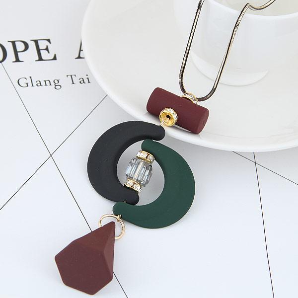 Zinklegierung Pullover Halskette, mit Acryl, plattiert, Schlangekette, frei von Blei & Kadmium, 700mm, verkauft per 27.56 ZollInch Strang
