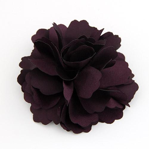 Schnabelspange, Polyester, mit Eisen, Blume, Platinfarbe platiniert, 72mm, verkauft von PC