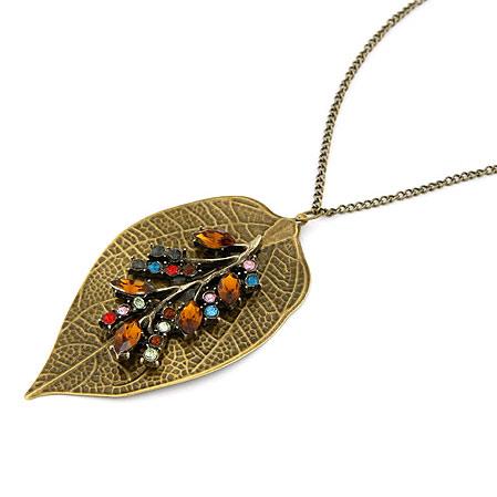 Zinklegierung Pullover Halskette, Blatt, antike Bronzefarbe plattiert, Twist oval, frei von Blei & Kadmium, 700x46x42mm, verkauft per ca. 27.56 ZollInch Strang