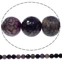 Natürliche Crackle Achat Perlen, Geknister Achat, rund, verschiedene Größen vorhanden & facettierte, violett, Bohrung:ca. 1mm, Länge:ca. 15 ZollInch, verkauft von Menge