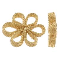 Messing Dekoration Blumen, goldfarben plattiert, gemischt, frei von Nickel, Blei & Kadmium, 30-41mm, 10PCs/Tasche, verkauft von Tasche