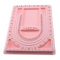 Perlen Zählbrett, Kunststoff, Rechteck, mit Samt überzogen, Rosa, 238x325mm, 20PCs/Tasche, verkauft von Tasche