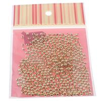 Eisen Schmuckperlen , rund, goldfarben plattiert, 4mm, 100x170mm, Bohrung:ca. 1mm, 500PCs/Tasche, verkauft von Tasche