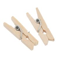 Clip, Holz, mit Eisen, verschiedene Größen vorhanden, originale Farbe, 500PCs/Tasche, verkauft von Tasche