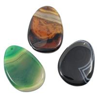 Spitze Achat Anhänger, Streifen Achat, gemischt, 35-45mm, 55-65mm, Bohrung:ca. 1mm, 20PCs/Tasche, verkauft von Tasche