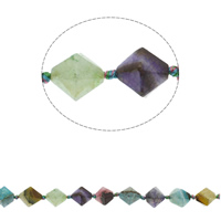 Natürliche Crackle Achat Perlen, Geknister Achat, Doppelkegel, facettierte, gemischte Farben, 18x16mm, Bohrung:ca. 1mm, ca. 21PCs/Strang, verkauft per ca. 17.3 ZollInch Strang