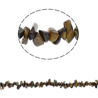 Edelstein-Span, Tigerauge, Bruchstück, 5-8mm, Bohrung:ca. 0.8mm, ca. 260PCs/Strang, verkauft per ca. 34.6 ZollInch Strang