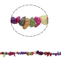 Gemstone Chips Turquoise Nuggets mixed colors 5-8mm Approx 0.8mm Approx Sold Per Approx 34.6 Inch Strand