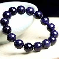 Natürlich Blaue Goldstone -Armbänder, blauer Goldsand, rund, verschiedene Größen vorhanden, Grade AAAAA, verkauft von Menge