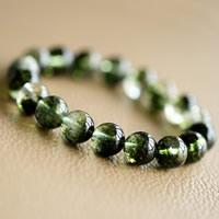 Phantomquarz Armband, rund, natürlich, Perlen Armband & verschiedene Größen vorhanden, Länge:ca. 7.5 ZollInch, verkauft von Menge