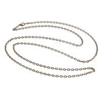 Eisen Halskette Gliederkette, antike Bronzefarbe plattiert, Oval-Kette, frei von Nickel, Blei & Kadmium, 3x4x0.50mm, verkauft per ca. 29 ZollInch Strang