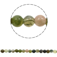 Natürliche Moos Achat Perlen, rund, verschiedene Größen vorhanden, gemischte Farben, Bohrung:ca. 1mm, Länge:ca. 15 ZollInch, verkauft von Tasche