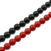 Edelstein Perle, rund, verschiedene Größen vorhanden, keine, Bohrung:ca. 1mm, Länge:ca. 15.7 ZollInch, verkauft von Tasche